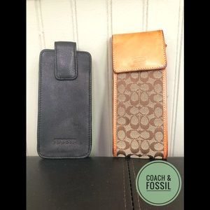 COACH & FOSSIL   phone holder